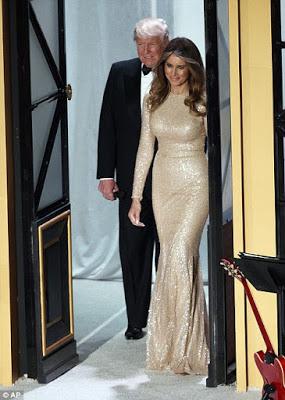 Photos: Melania Trump's stunning dress to the Trump pre-inauguration dinner