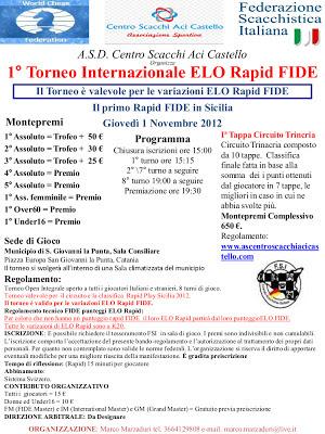 1°Torneo Internazionale ELO Rapid FIDE