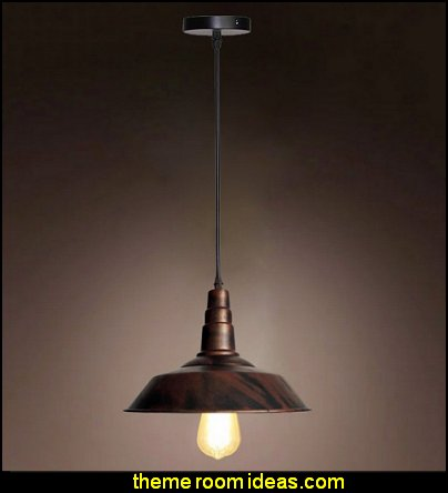 Bronze Vintage Metal Industrial Pendant Light Warehouse Shade