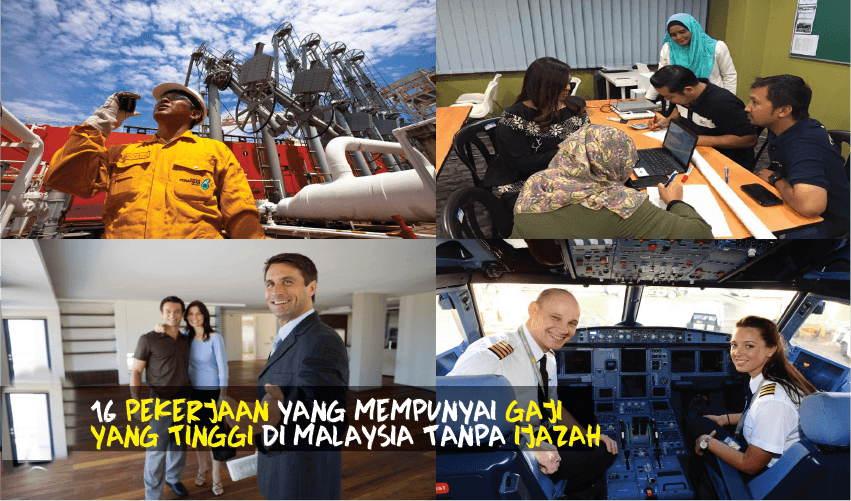 17 Pekerjaan Gaji Tinggi Tanpa Perlukan Ijazah Di Malaysia