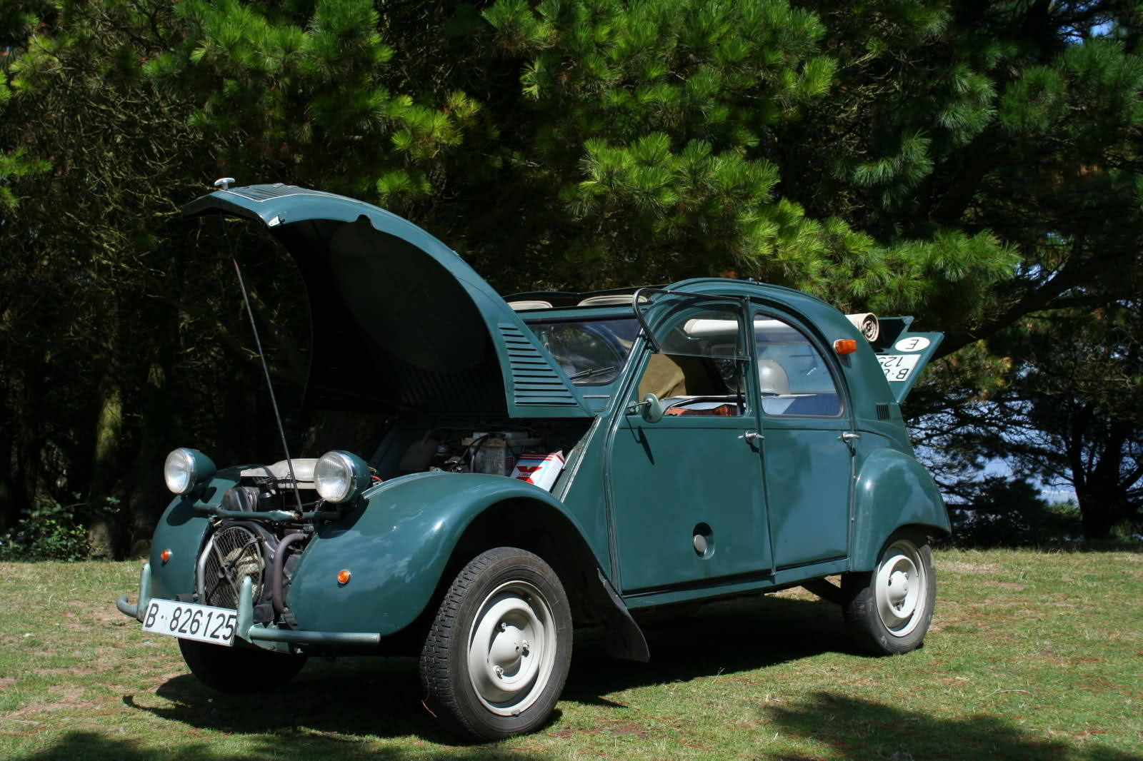 coches con historia un citro n 2cv con 2 motores citro n 2cv sahara 4x4. Black Bedroom Furniture Sets. Home Design Ideas