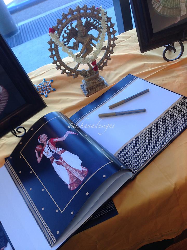 darshanadesigns arangetram rangapraveshem photo album guest sign