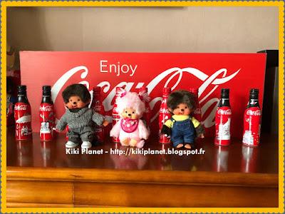 la collection Coca-Cola My Little Paris conçue par Kanako monchhichi kiki collector