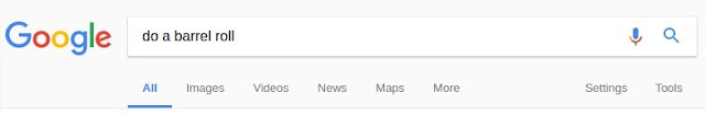 """type: """"do a barrel roll"""" into google and search!"""