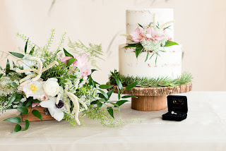 spring styled wedding