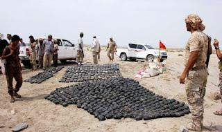 Syiah Houthi Tanam Ribuan Ranjau Darat di Penjuru Negara Yaman
