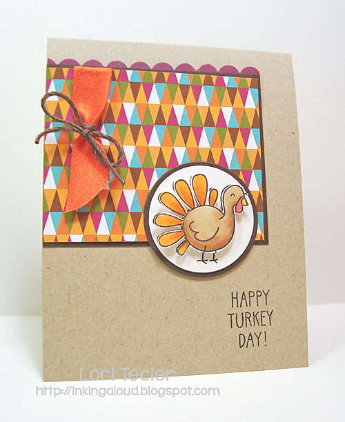 Happy Turkey Day card-designed by Lori Tecler/Inking Aloud-stamps from Lawn Fawn