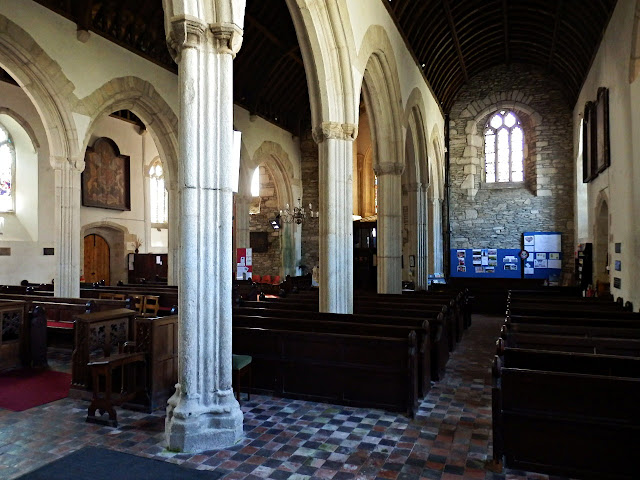 Inside of Probus church, Cornwall