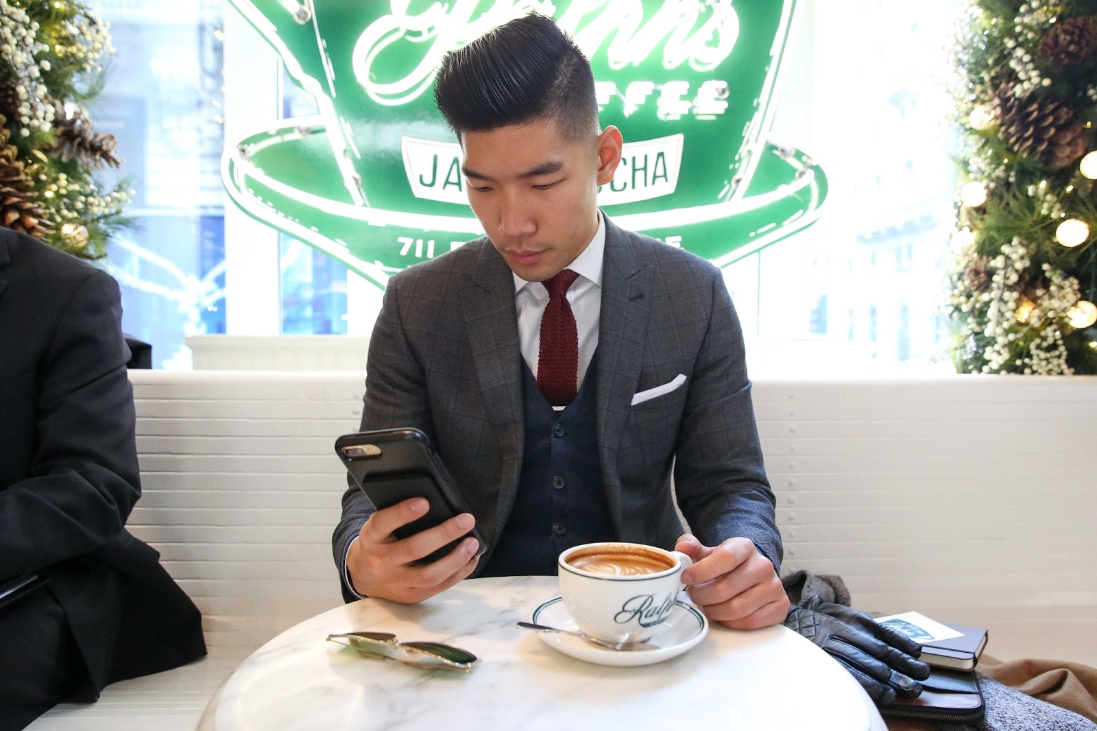 Levitate Style menswear NYC Holiday with Otterbox - Leo Chan and Alicia Mara