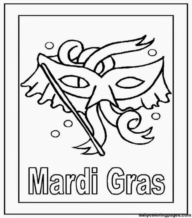 mardi gra coloring pages   Mardi Gras Coloring Pages   Free Coloring Sheet