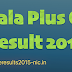 Kerala State Plus One Results 2017