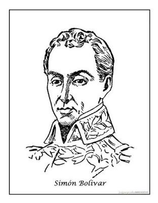 dibujo retrato de Sión bolívar