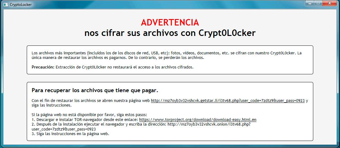 Pantallazos.es: Cryptoloker Ransomware Endesa: Eliminar ventanas ...