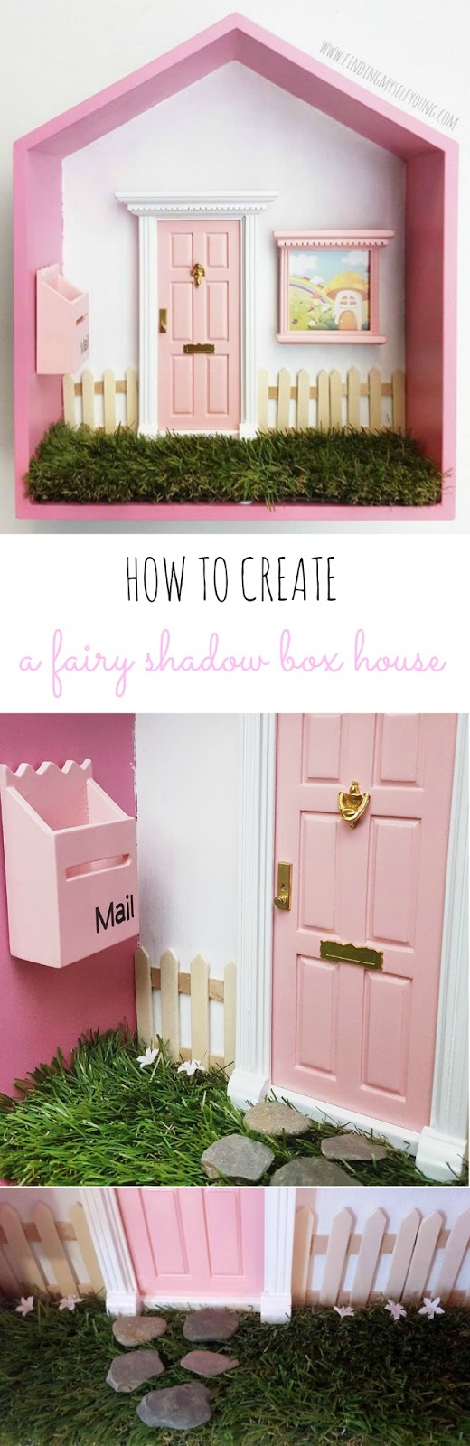 How to transform a shadow box into a fairy house