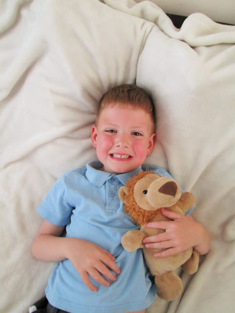 Project 365 8th June - D with his class teddy called Thomas BB8 who is home for the weekend