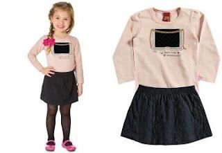Inverno moda infantil para revenda