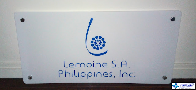 Acrylic Logo Panel Sign for Lemoine S.A. Philippines