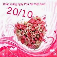 Thiệp hoa 20/10 dành tặng chị em phụ nữ nhân ngày Phụ nữ Việt Nam