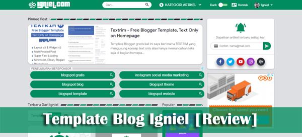 Review Template Blogger buatan Igniel.com
