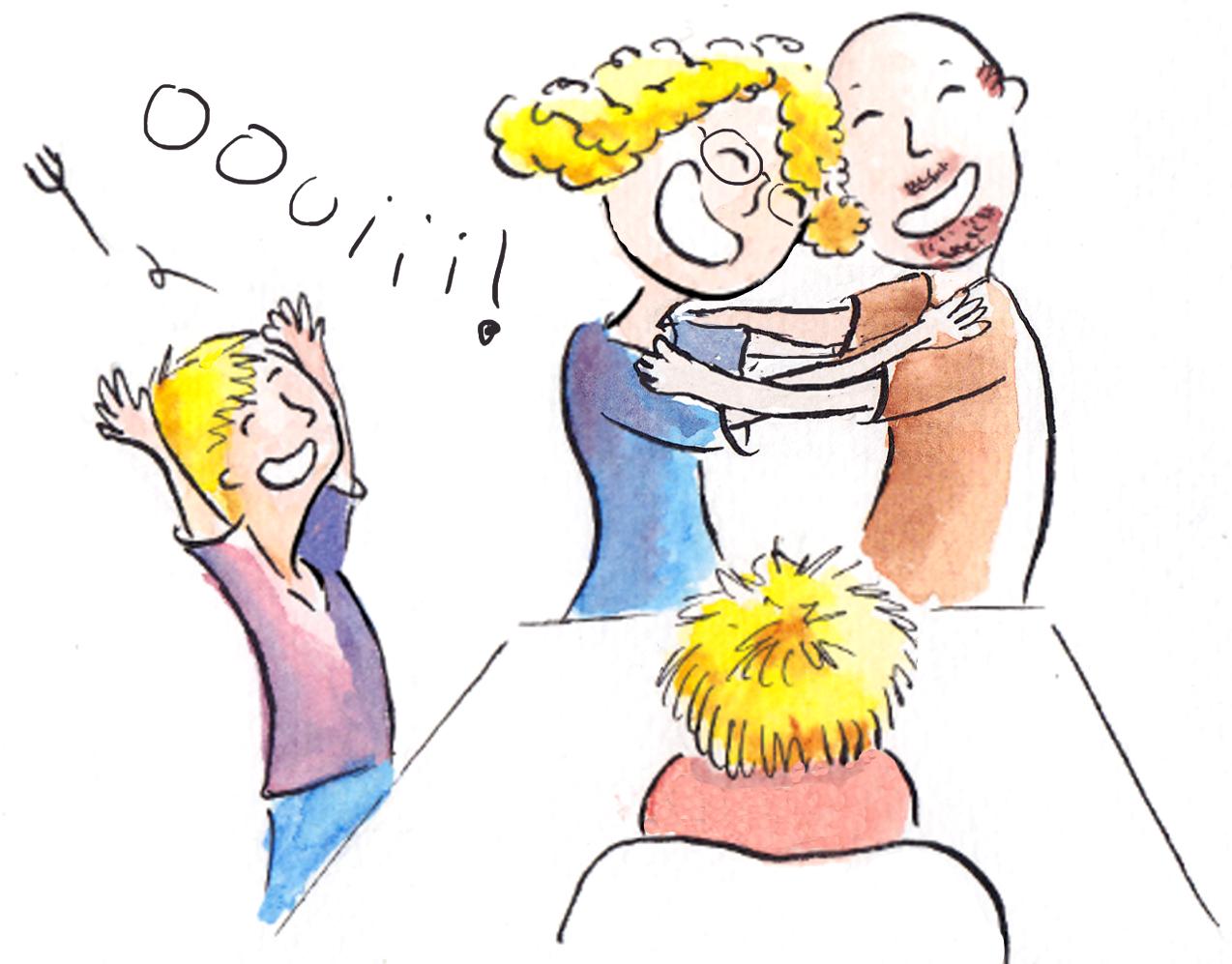 """""""vie de famille"""" illustration family permiers mots"""