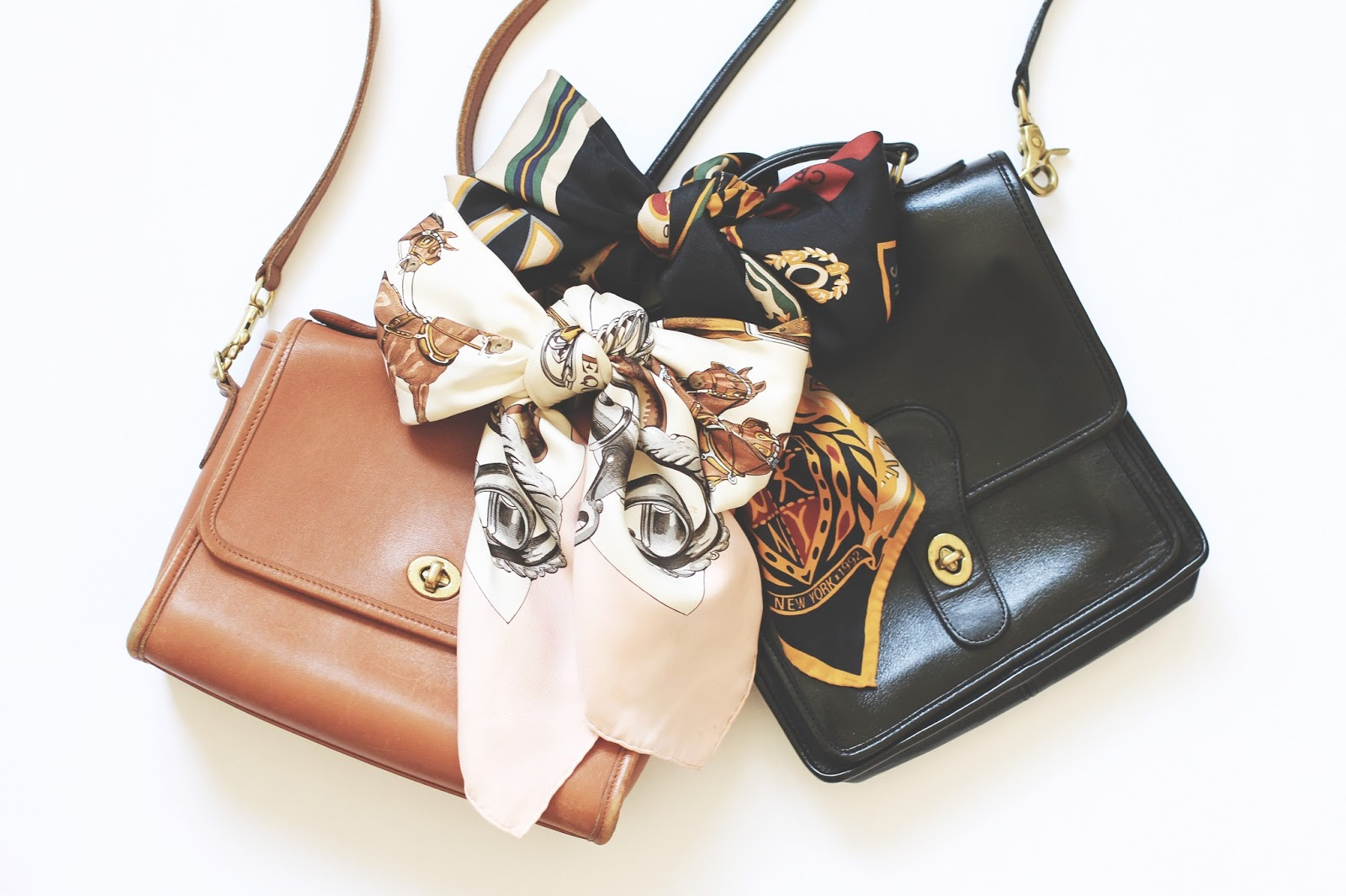 How to Style Vintage Coach Purses