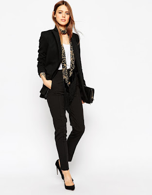 ASOS Premium Ponte Double Breasted Blazer