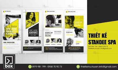 Thiết kế Standee Spa đẹp, nhanh, rẻ