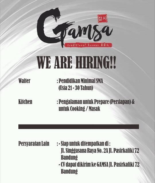 Lowongan Kerja Gamsa Bandung