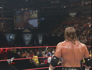 WWE / WWF Fully Loaded 1999 - The Rock confronts Triple H before their match