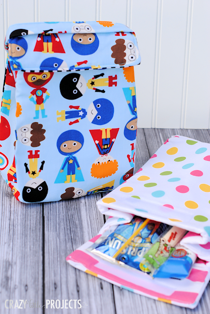 Kids insulated lunch box  by Crazy Little Projects - featured on AppleGreen Cottage