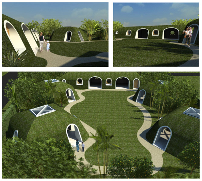 Prefab earth sheltered homes by green magic homes modern for Earth covered homes