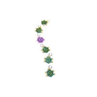 Bead Crumbs turtle pattern