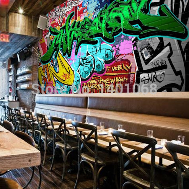 häftig tapet graffiti fototapet cool tapet fondvägg ungdomsrum