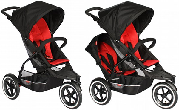 Red Newborn Pram Mumicollection Cny Sale Phil And Teds Brand
