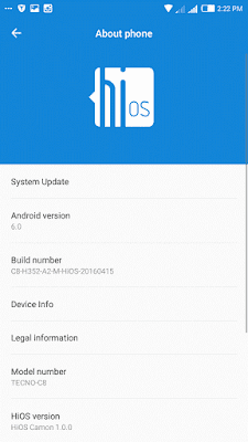 image_912-1 Tecno Camon C8 HioS Android 6.0 Marshmallow Update Android