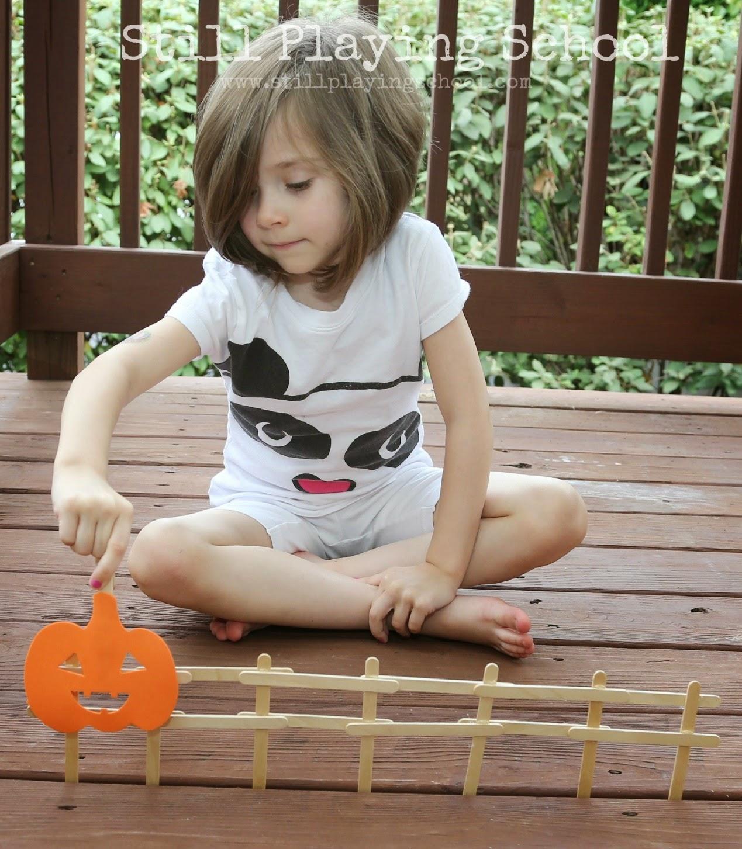 Five Little Pumpkins Fine Motor Activity