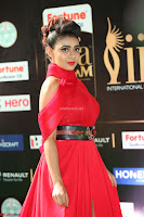 Apoorva in a Stunning Tight Leg Split Sleeveless Red Gown at IIFA Utsavam Awards 20.JPG