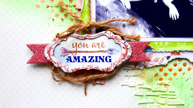 You are Amazing Scrapbook Page by Katherine Sutton for BoBunny using Serendipity