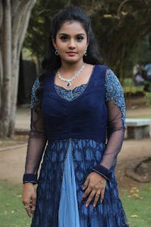 Actress Maya Stills in Long Dress at Darling 2 Tamil Movie Press Meet 0003