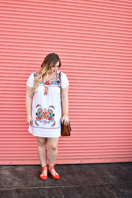 the happy goose shop fiesta dress spanish summer dress mexican dress embroidered dress mac lipstick candy yum yum michael kors crossbody topshop ghille lace up flat ombre blonde hair curled hair curling wand hermes bracelet david yurman bracelet