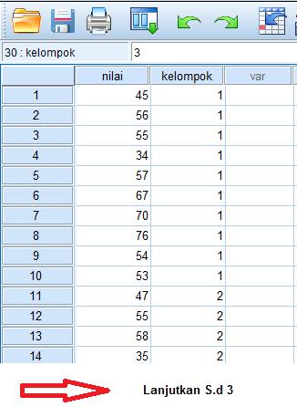 menu analize pilih anova spss statistik