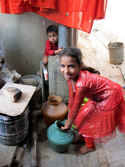 Kids Getting Water - photo credit waterdotorg - Bangalore 2012