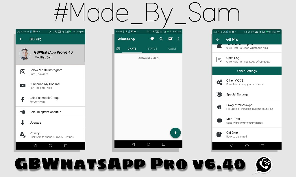GBWhatsApp Pro v6 40 Latest Version Download Now By Sam