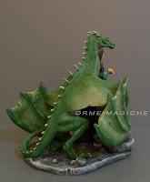 scultura drago personalizzata modellini draghi su ordinazione milano orme magiche