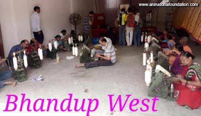 Spinning, Winder / devotees, Uniform / Hanks, Registration / Praying, Bhandup / Mumbai, Shriharigurugram/ Amber charkha
