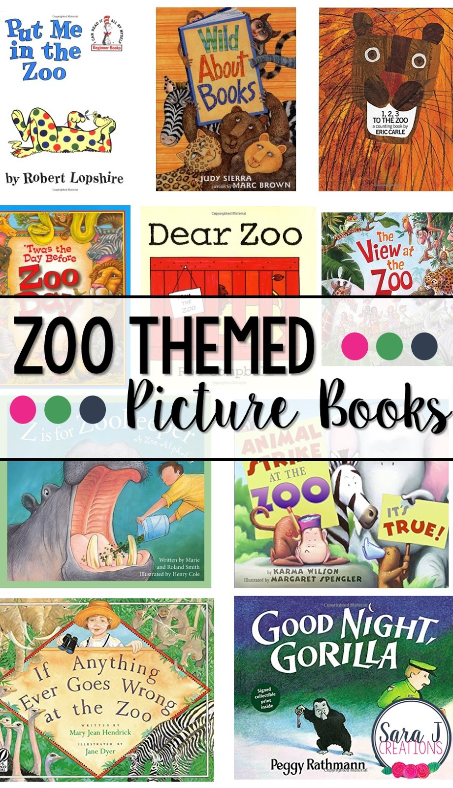 10 zoo themed picture books!  Perfect for getting ready for a trip to the zoo.