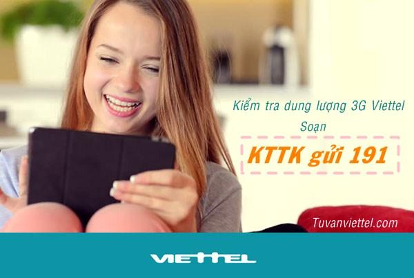 Hướng dẫn kiểm tra dung lượng data các gói Dcom 3G Viettel