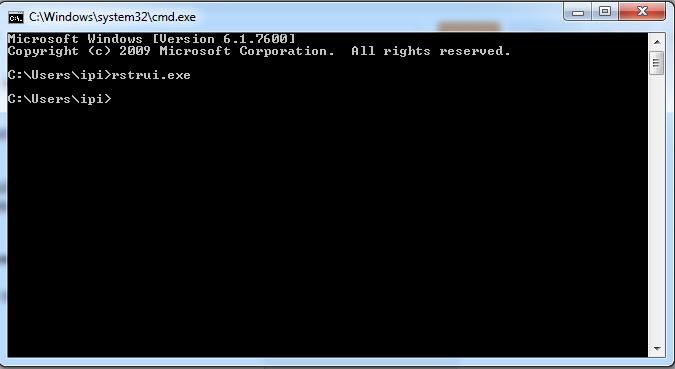 Cara Menjalankan System Restore Di Windows 7 Melalui Command Prompt