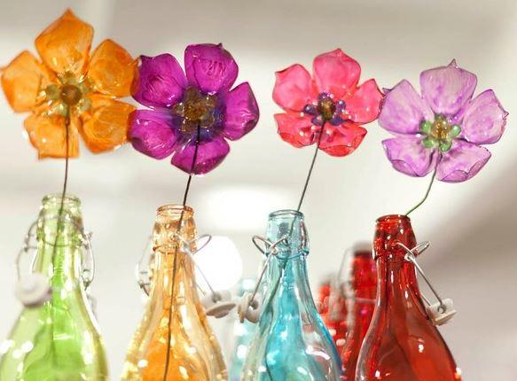 7 Hermosas Flores Para Hacer Con Botellas De Plástico