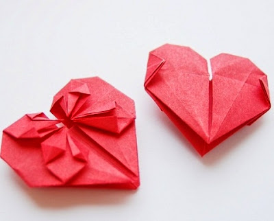 origami heart for kids